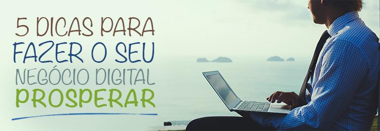 Dicas para o negócio online Prosperar