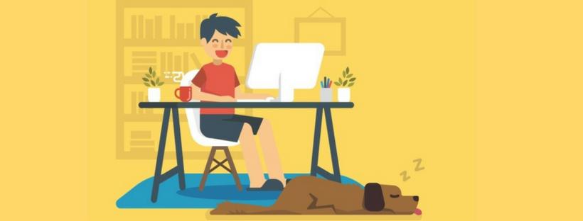 Trabalhar em casa com os filhos